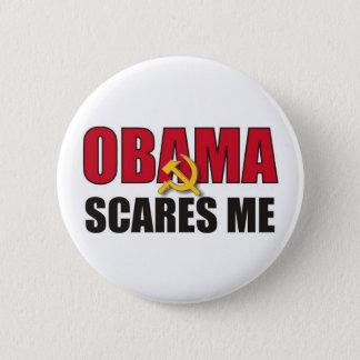 オバマは私をおびえさせます 5.7CM 丸型バッジ