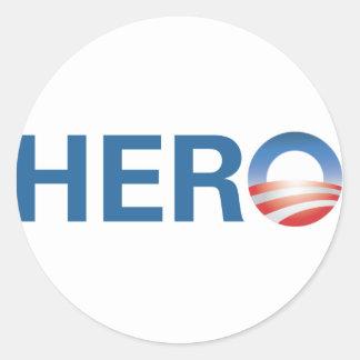 オバマは英雄です! ラウンドシール