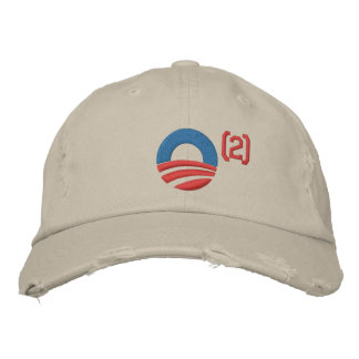 オバマは野球帽を平方しました 刺繍入りキャップ