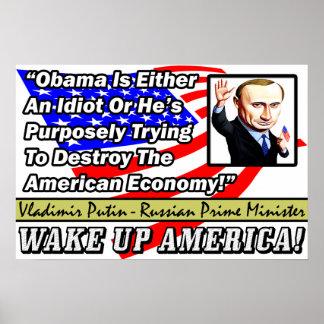 オバマは馬鹿です: ウラジーミル・プーチン! ポスター