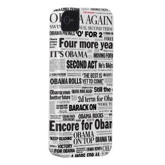 オバマは2012見出しのiPhone 5の場合を再選しました Case-Mate iPhone 4 ケース