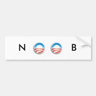 オバマはNOOBです バンパーステッカー
