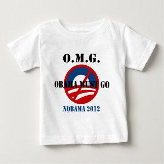 オバマはomgの行かなければなりませんワイシャツ ベビーTシャツ