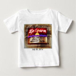 オバマカンザスシティアップタウンの劇場の歓迎の大統領 ベビーTシャツ