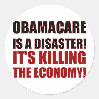 オバマケアは災害です! それは経済を殺しています! ラウンドシール