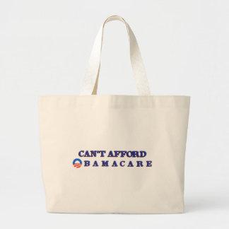 オバマケアをできることができません ラージトートバッグ