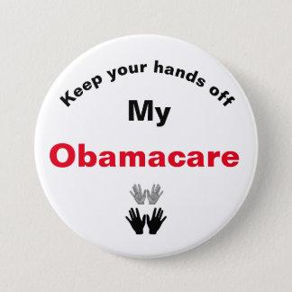 オバマケア私のボタンを離れてあなたの手を保って下さい 7.6CM 丸型バッジ