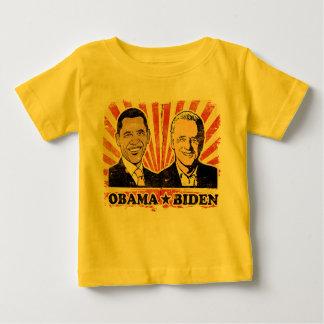 オバマバイデン氏のポートレートの乳児のTシャツ ベビーTシャツ