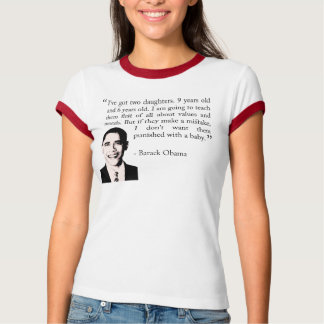 オバマバラクのTシャツ(家庭の大切さ) Tシャツ