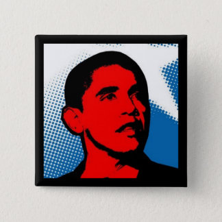 オバマボタンのための漫画の企業 5.1CM 正方形バッジ