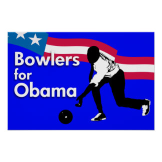 オバマポスターのためのボウリングをする人、クリケットの投手 ポスター