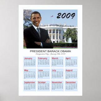 オバマポスター- 2009壁掛けカレンダー ポスター