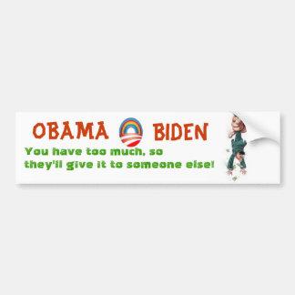 オバマ及びバイデン氏は窮乏に課税します バンパーステッカー