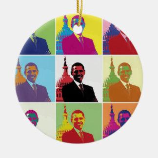 オバマ大統領のポップアート セラミックオーナメント