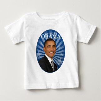 オバマ大統領の青 ベビーTシャツ