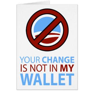 オバマ無し: あなたの変更は私の財布にありません カード