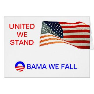 オバマ私達はころびます カード