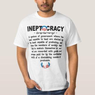 オバマ管理のIneptocracyのTシャツ Tシャツ
