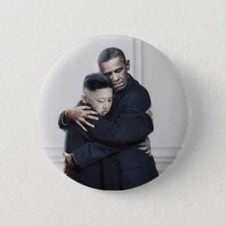 オバマ金Jong国連北朝鮮愛 5.7cm 丸型バッジ
