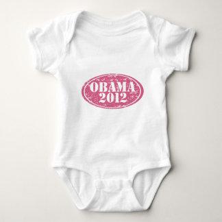 オバマ2012のピンクは衰退しました ベビーボディスーツ