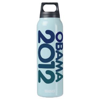オバマ2012の青いデザイン 断熱ウォーターボトル