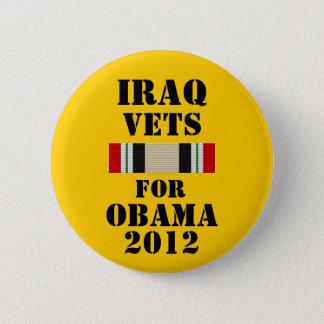 オバマ2012年のためのイラクの獣医 缶バッジ