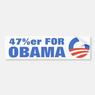 オバマ2012年のための47% バンパーステッカー