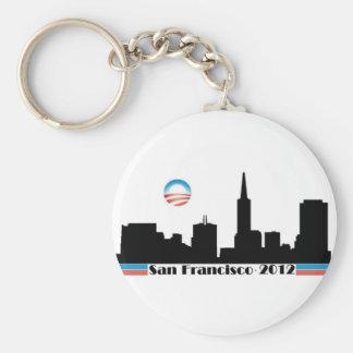 オバマ2012年のサンフランシスコのスカイライン キーホルダー