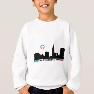 オバマ2012年のサンフランシスコのスカイライン スウェットシャツ