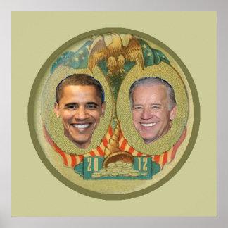 オバマ2012年のポスタープリント ポスター