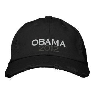 オバマ2012年の動揺してなチノのあや織りの帽子 刺繍入りキャップ
