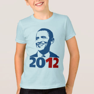 オバマ2012年を再選して下さい Tシャツ