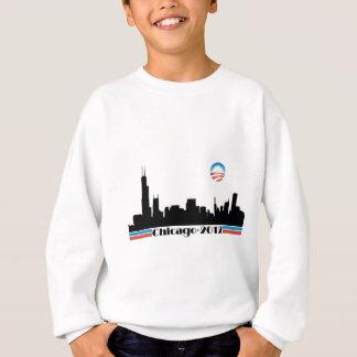 オバマ2012年-シカゴのスカイライン スウェットシャツ