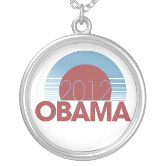 オバマ2012年 シルバープレートネックレス