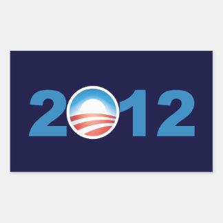 オバマ2012年 長方形シール