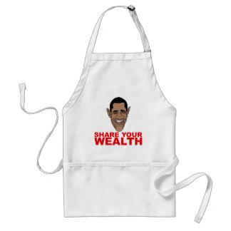 オバマ: あなたの富を共有して下さい スタンダードエプロン
