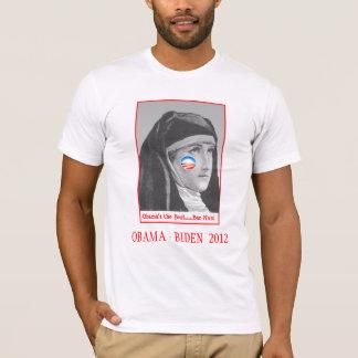 """オバマ-バー""""尼僧"""" Tシャツ"""
