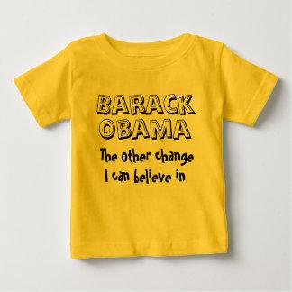 オバマ、他変更、私はバラク信じてもいいです ベビーTシャツ