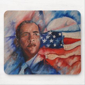 オバマ: 具現される視野-マウスパッド マウスパッド