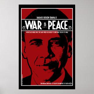 オバマ: 戦争は平和です ポスター