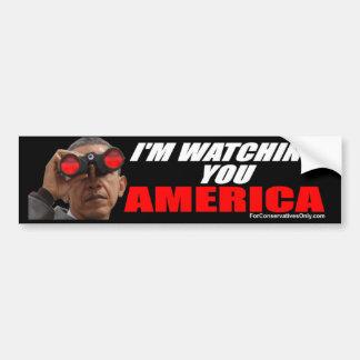 オバマ-私はアメリカ見ています バンパーステッカー