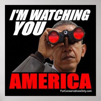 オバマ-私はアメリカ見ています ポスター
