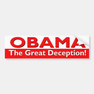 オバマ-素晴らしい詐欺のバンパーステッカー バンパーステッカー