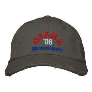 オバマ「08マサチューセッツの帽子 刺繍入りキャップ