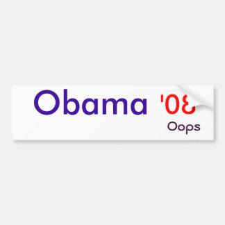 オバマ、「08、oops バンパーステッカー