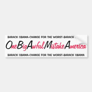 オバマ- 1つの大きくひどい間違いアメリカ バンパーステッカー