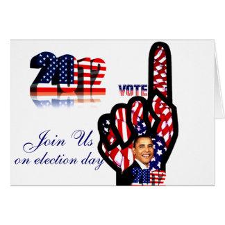 オバマ#2_のための投票 カード