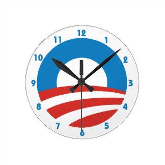 オバマ「O」のロゴの柱時計 ラウンド壁時計