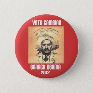 オバマ: Zapataの精神 5.7cm 丸型バッジ
