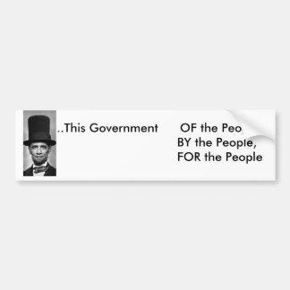 オバマAbe。人々      のこの政府… バンパーステッカー